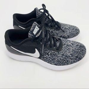 Nike Flex Contact Running Shoes Black White 7